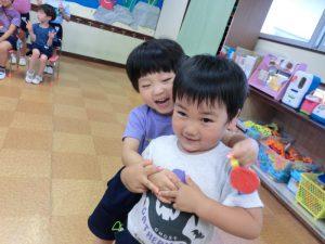 二学期も、みんなと元気いっぱい遊べることを楽しみにしています(^^)♪の様子